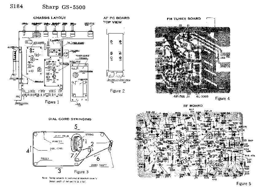 SHARP GS-5500 SM Service Manual download, schematics