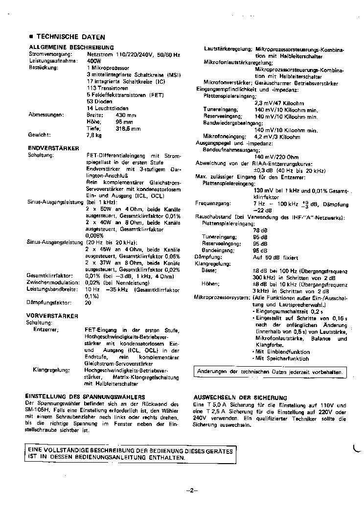 SHARP OPTONICA SM105H SM D5 DE FR SM Service Manual