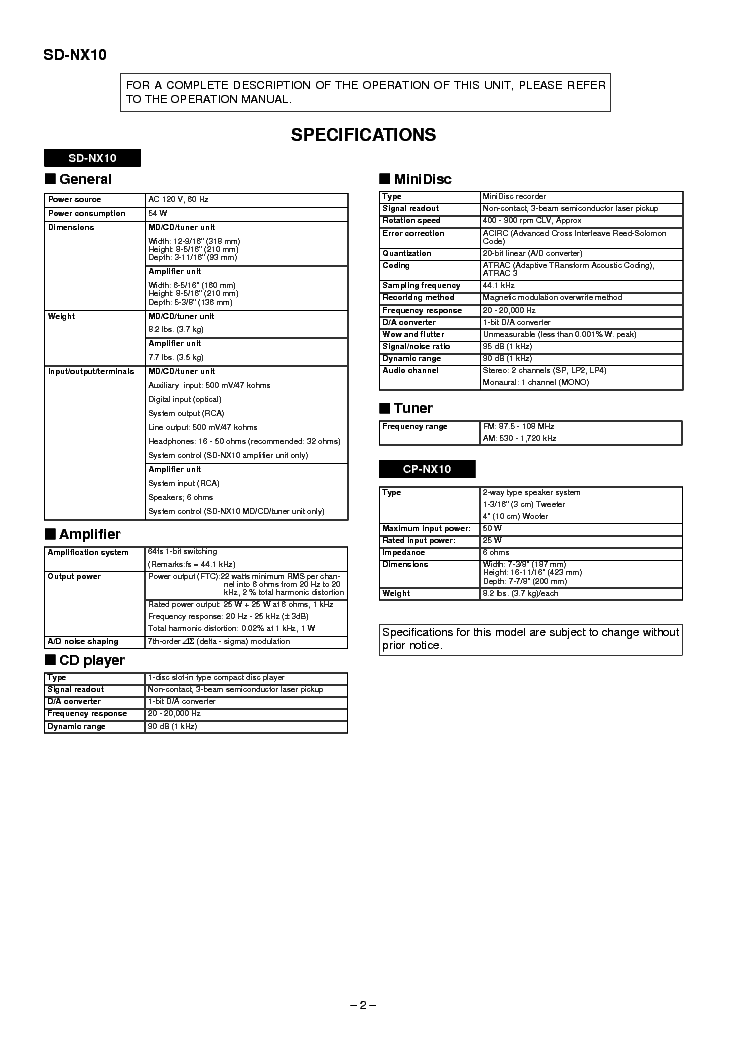 SHARP SD-NX10 Service Manual download, schematics, eeprom
