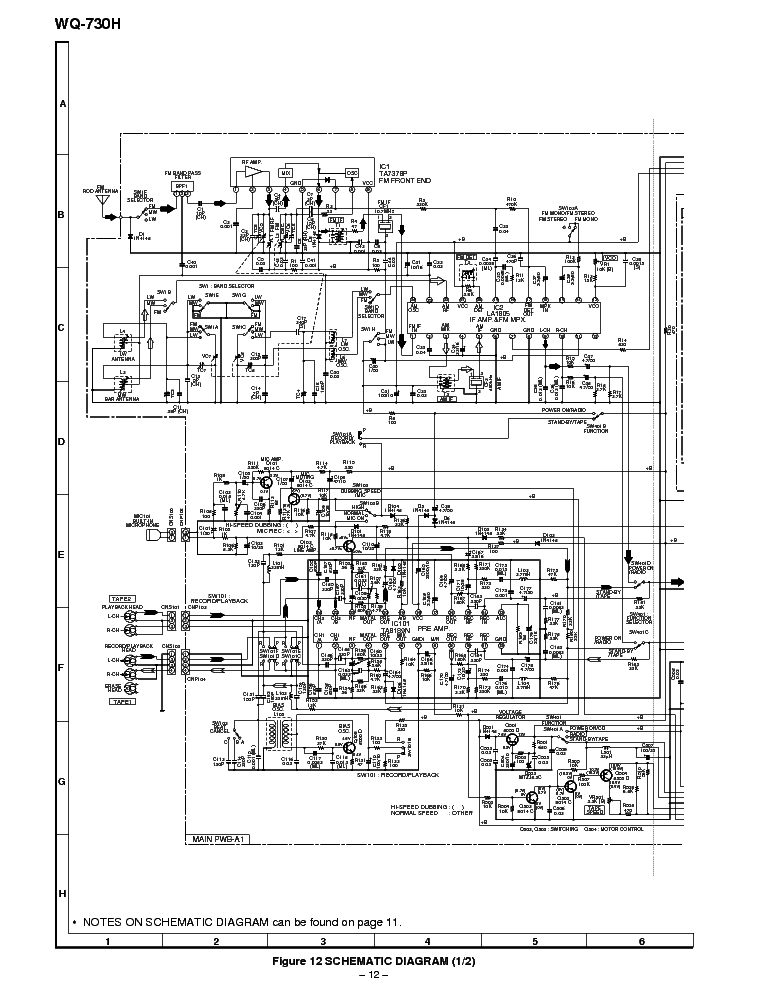 SHARP WQ-730H Service Manual download, schematics, eeprom