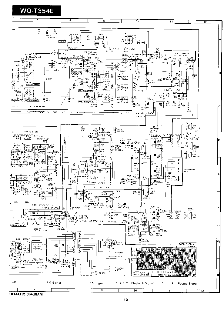 SHARP WQT-354 SCH Service Manual download, schematics