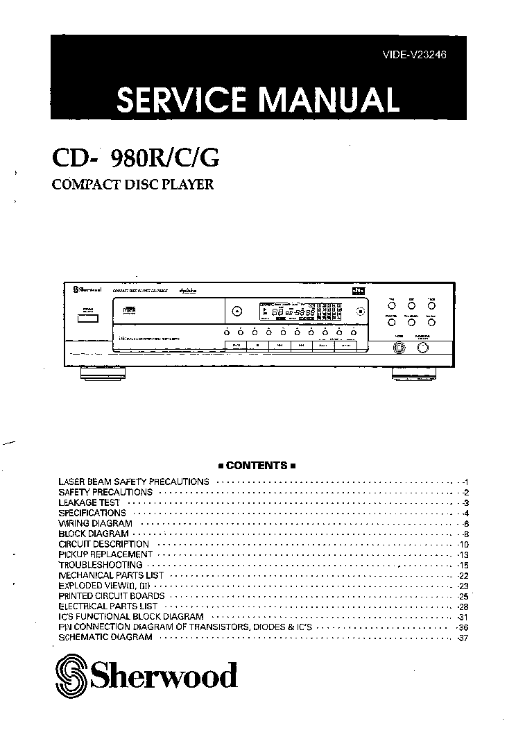 SHERWOOD SEL-400 SCH Service Manual download, schematics