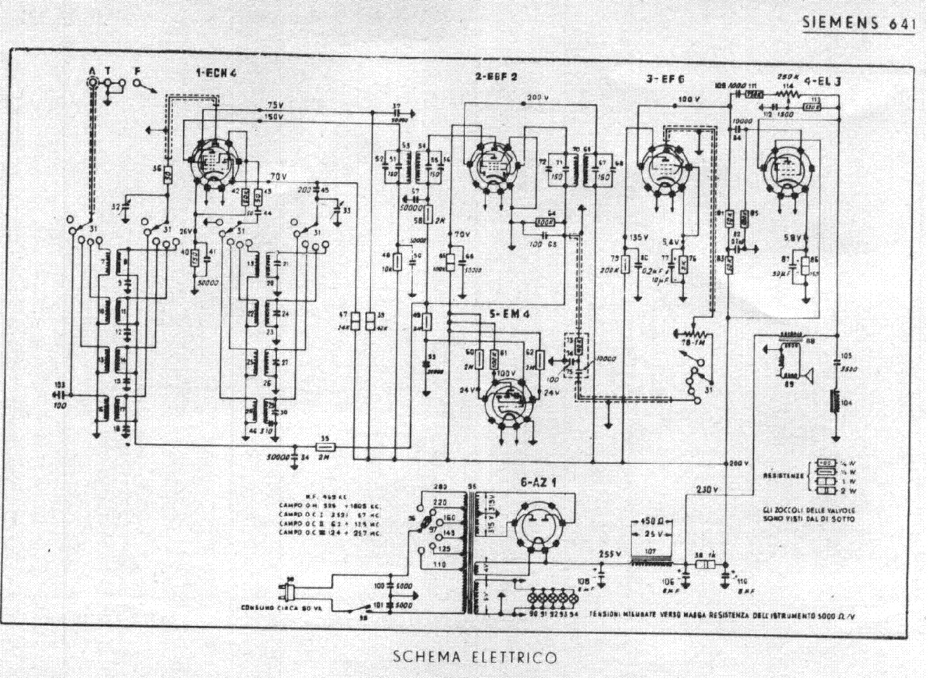 SIEMENS 641 Service Manual download, schematics, eeprom