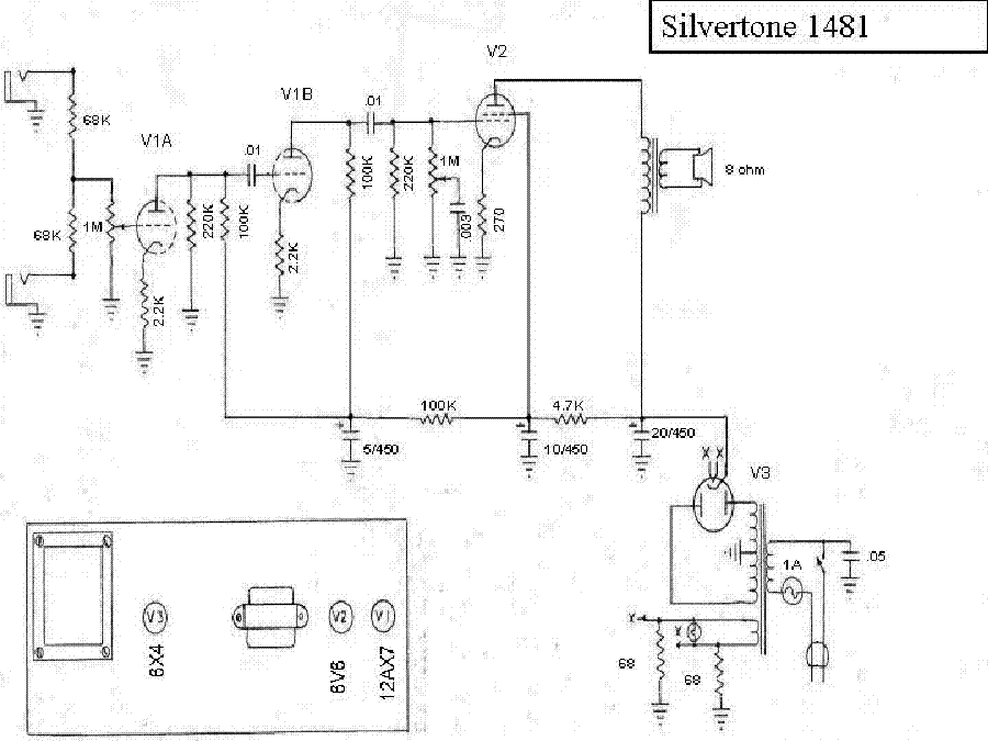 SILVERTONE 1481 Service Manual download, schematics