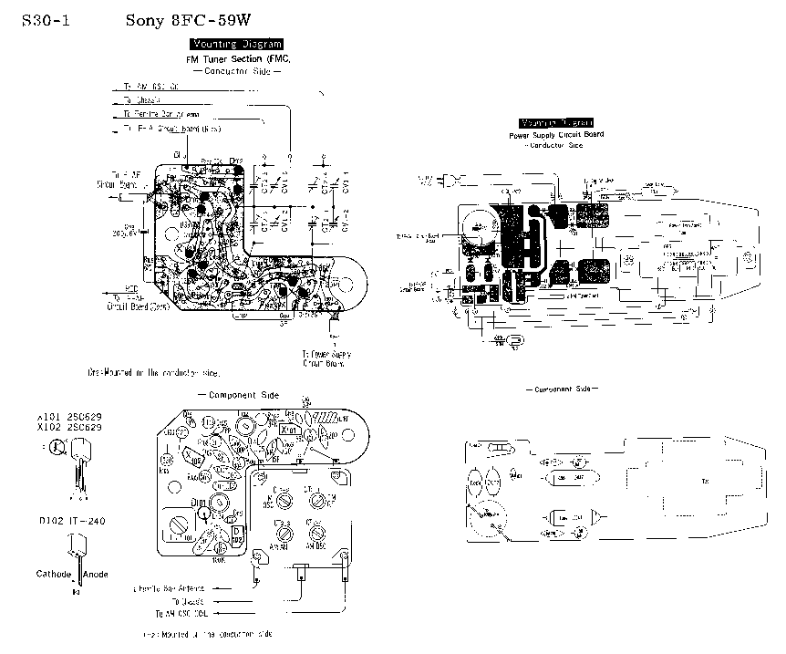 SONY SDP-VF1 Service Manual download, schematics, eeprom