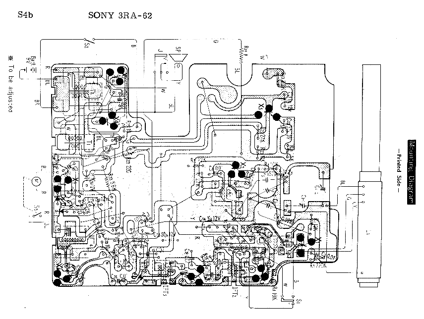 SONY 3RA-62 SM Service Manual download, schematics, eeprom