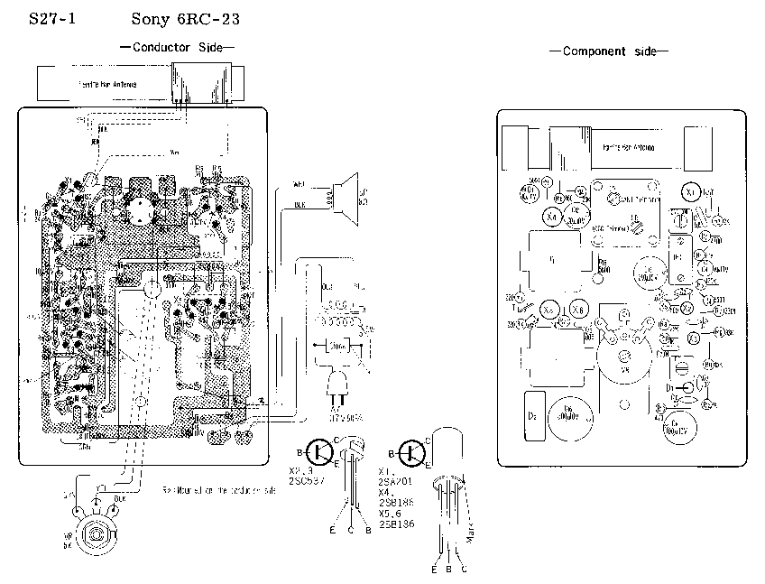 SONY 6RC-23 SM Service Manual download, schematics, eeprom