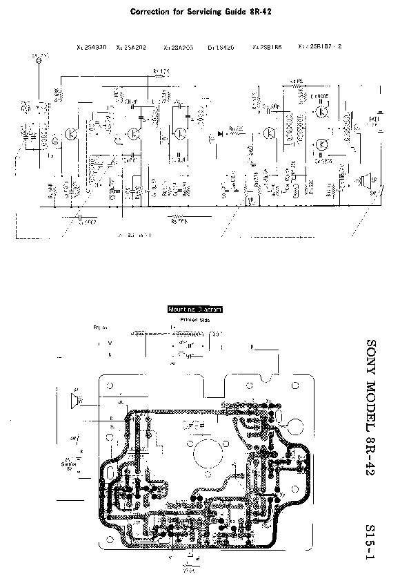 SONY 8R-42 SM Service Manual download, schematics, eeprom