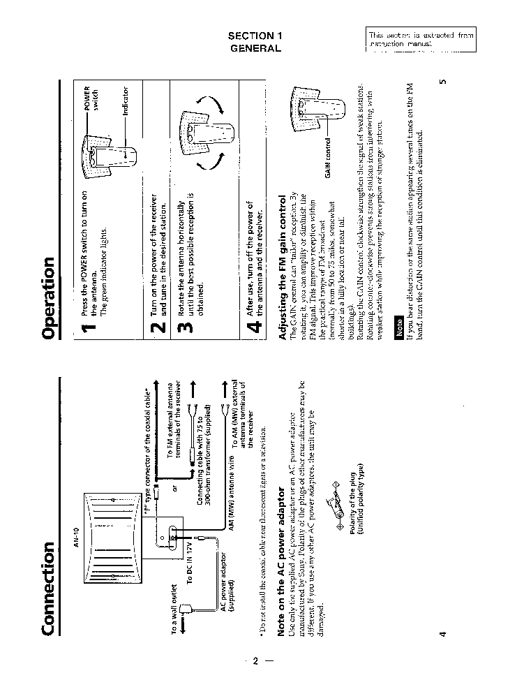 SONY AN-10 Service Manual download, schematics, eeprom