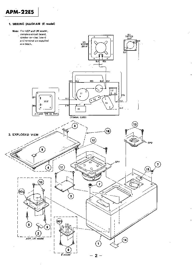 SONY APM-22ES SM Service Manual download, schematics