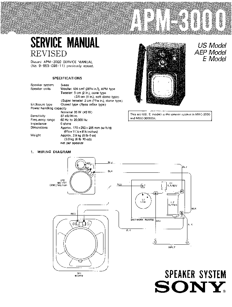SONY CFD-V30 SM 2 Service Manual download, schematics