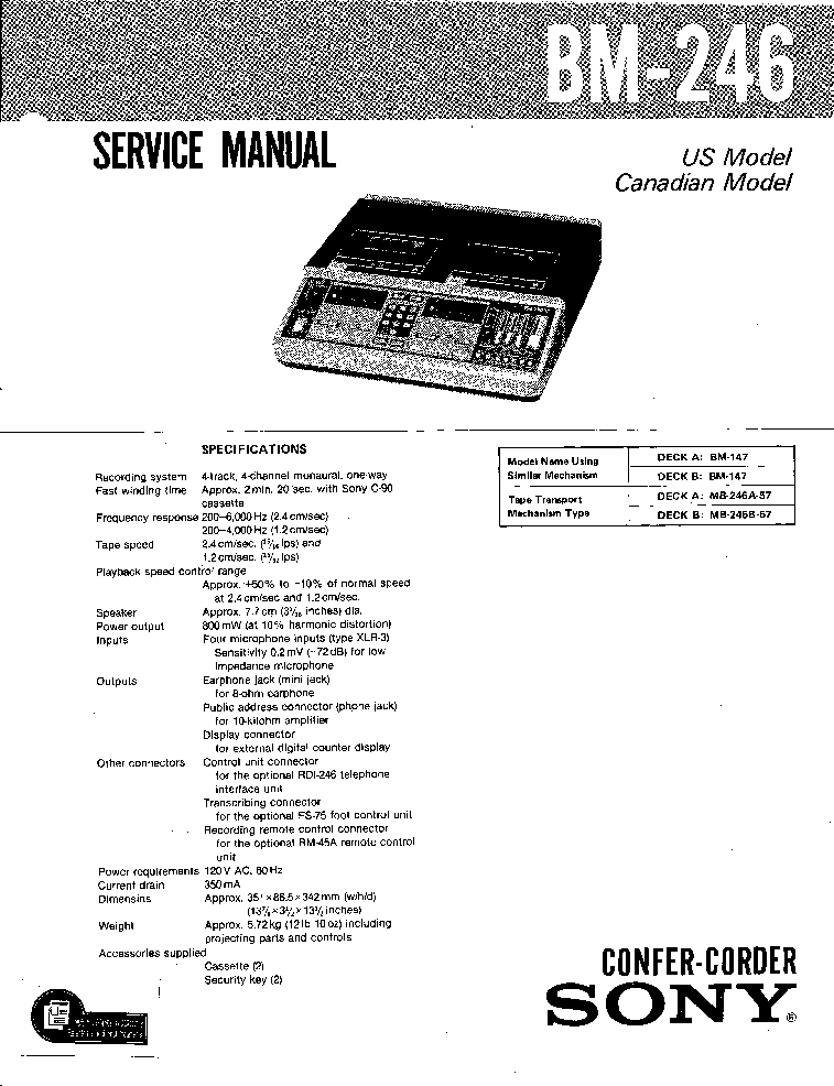 SONY TA 590 LBT A595 Service Manual free download