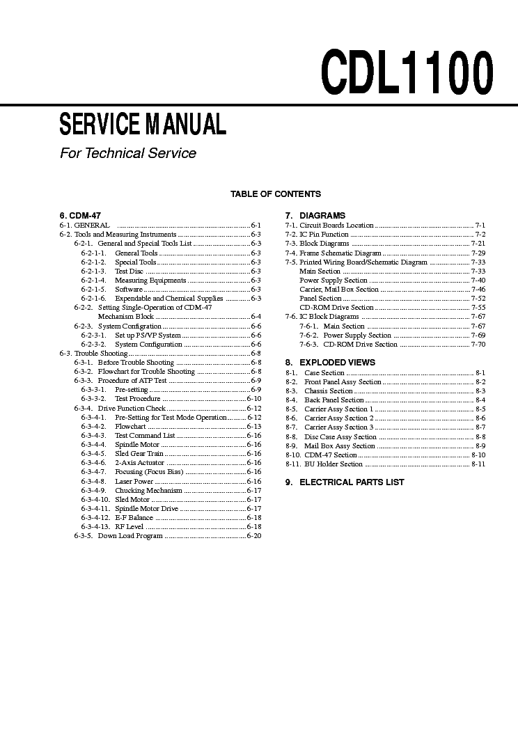 SONY MDS-JE500 Service Manual free download, schematics