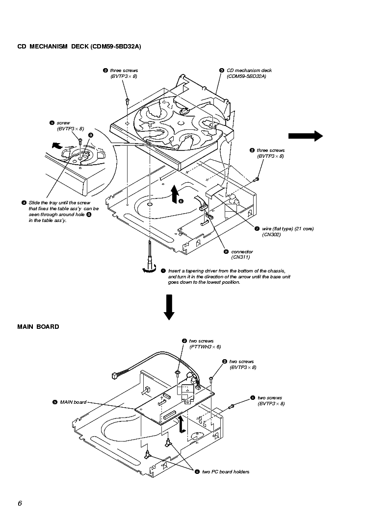 SONY CDM59-5BD32A Service Manual download, schematics