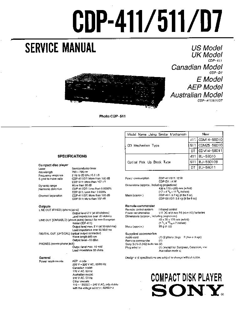 SONY TA-A57 TA-D509 Service Manual download, schematics