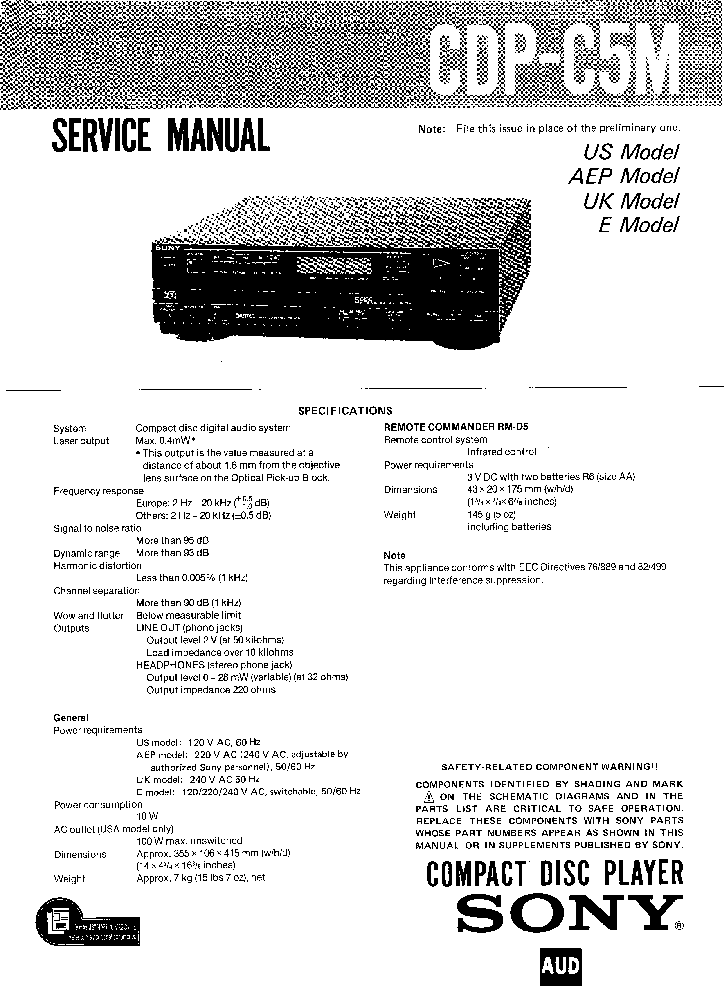 SONY STR-K1600 Service Manual free download, schematics