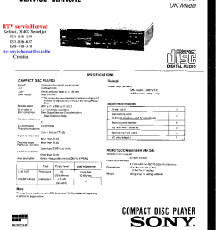 sony cdp m30 service manual 1st page  [ 763 x 1051 Pixel ]