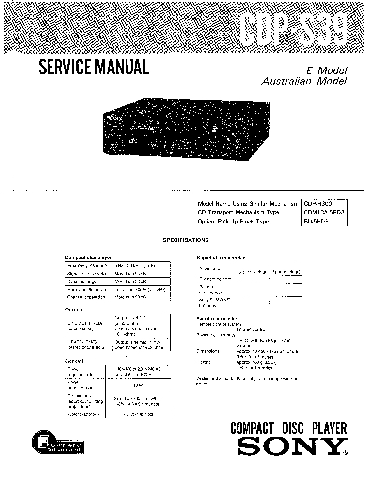 SONY CFD-F17CP VER1.2 Service Manual download, schematics