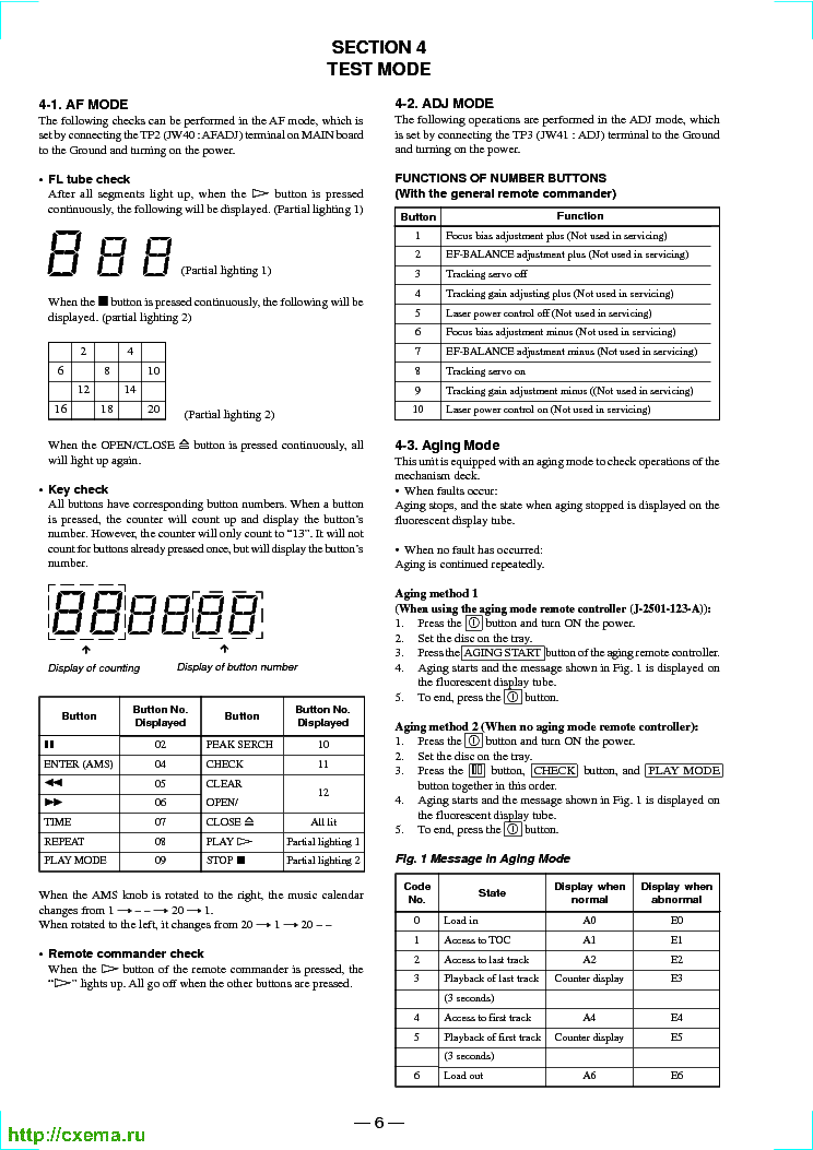 SONY CDP-XE330 Service Manual download, schematics, eeprom