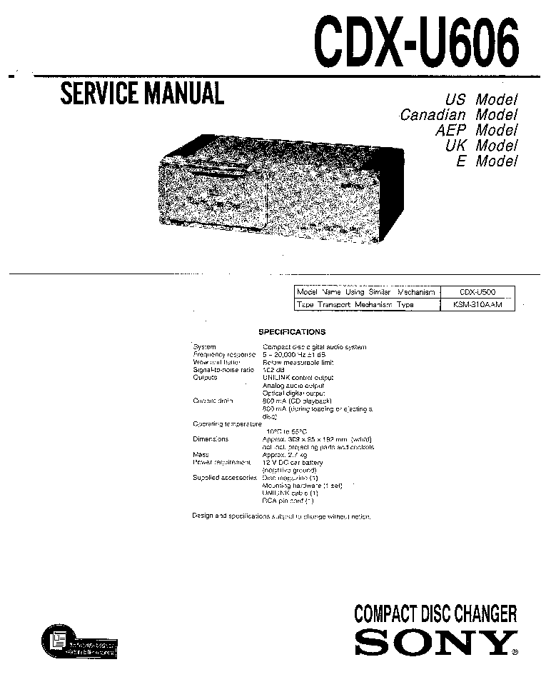 SONY STR-K850P VER1.0 RECEIVER Service Manual free