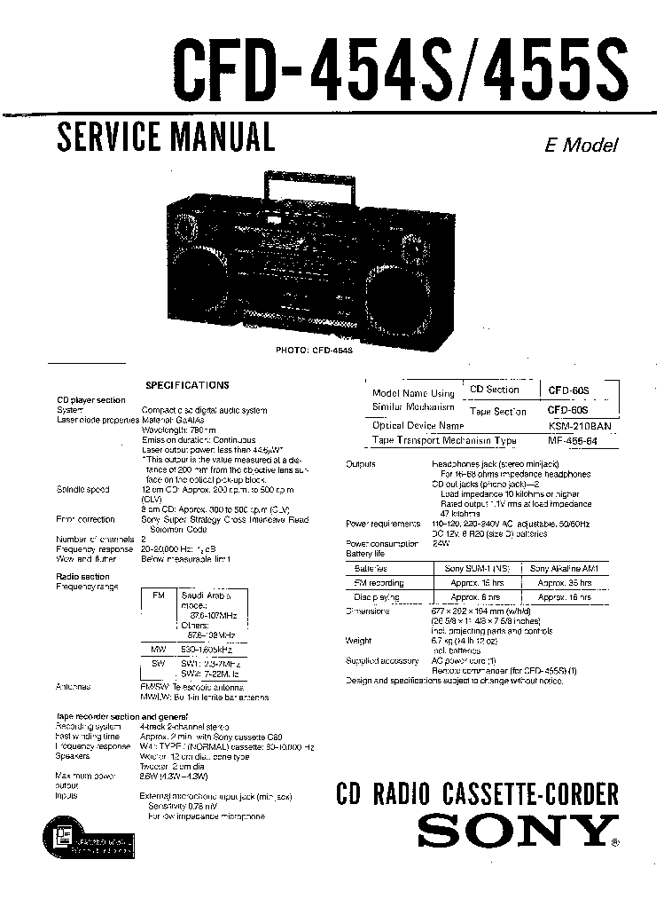 SONY TC-K777ES Service Manual free download, schematics