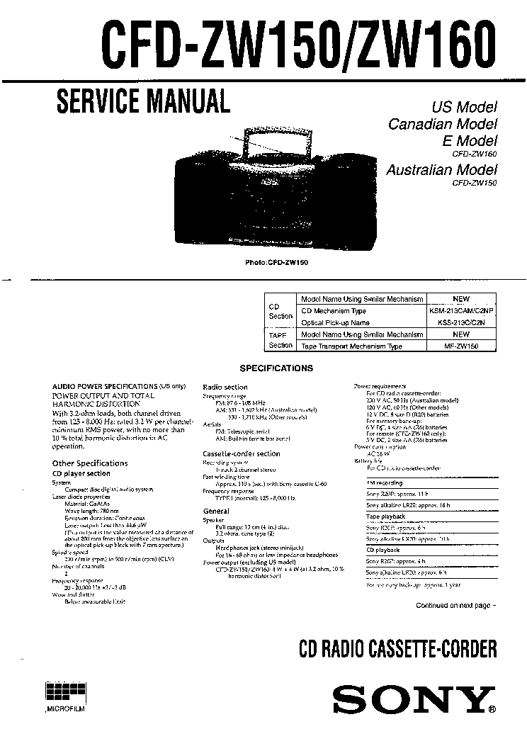 SONY CDP-M26,M27,M47 SM Service Manual free download