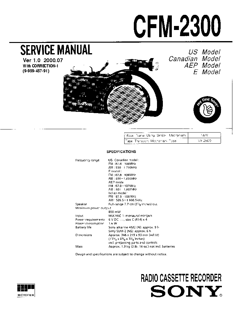 SONY SA-WP1500 VER1.0 Service Manual download, schematics