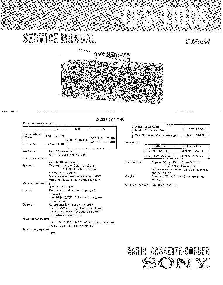 SONY CDP-502ES 620ES SM Service Manual download
