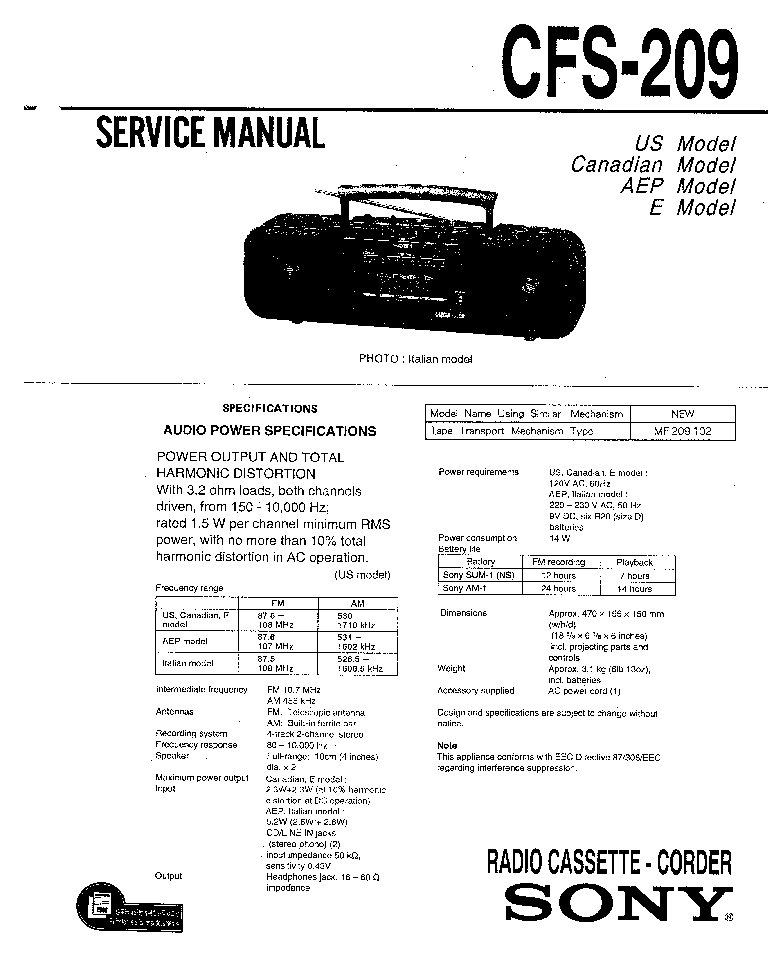 SONY CDP-35 Service Manual free download, schematics