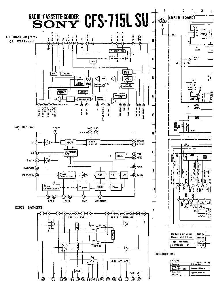 SONY TC-D5M Service Manual free download, schematics