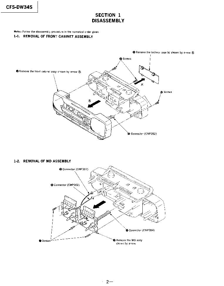 SONY CFS-DW34S GERMANY MODEL Service Manual download