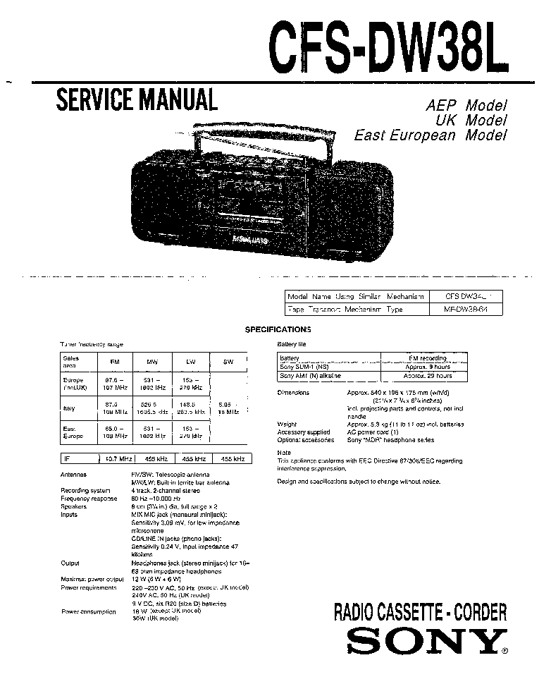 SONY HCD-N200 Service Manual free download, schematics
