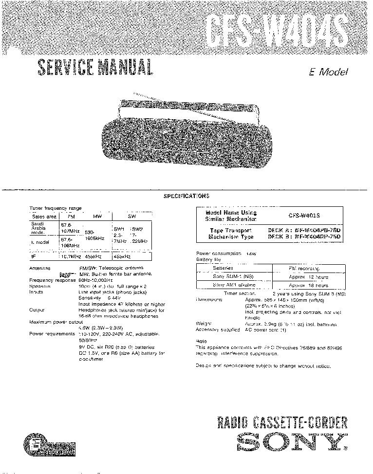 SONY STR-DA1500ES VER-1.0 SM Service Manual free download