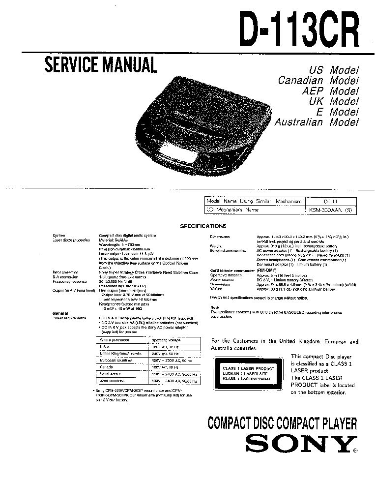 SONY SS-L80 L100V Service Manual free download, schematics