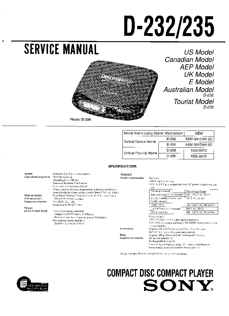 SONY HCD-SPZ50 SPZ70 SM Service Manual free download