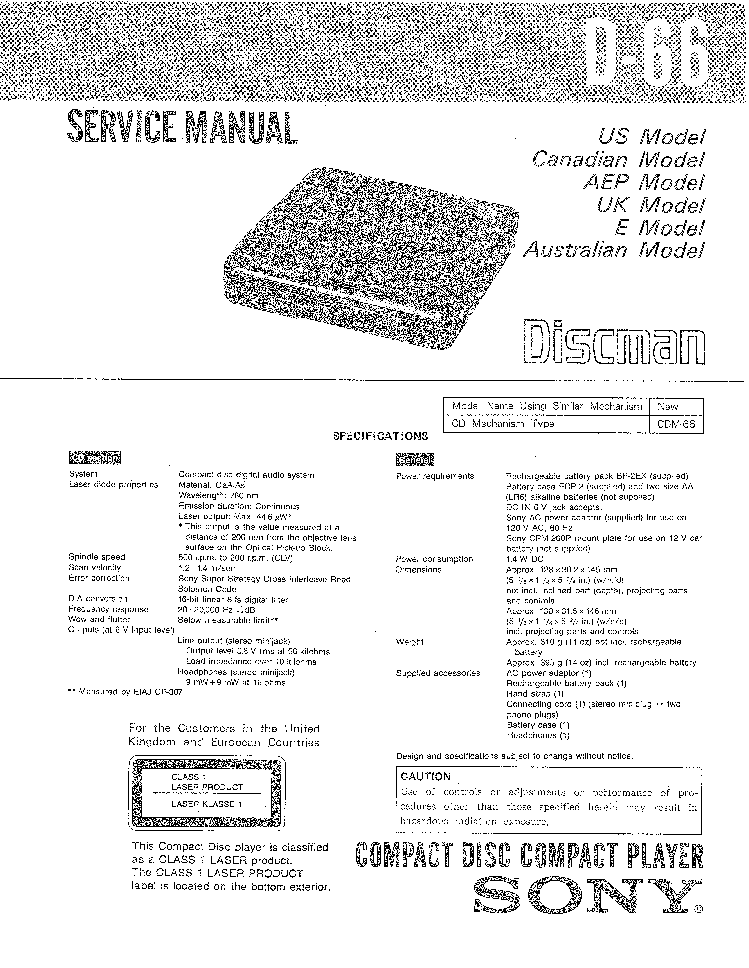 SONY MHC-RG77 VER1.5 Service Manual download, schematics