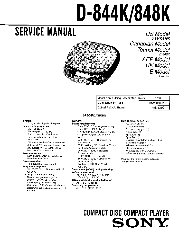 SONY HCD-GR7 Service Manual free download, schematics
