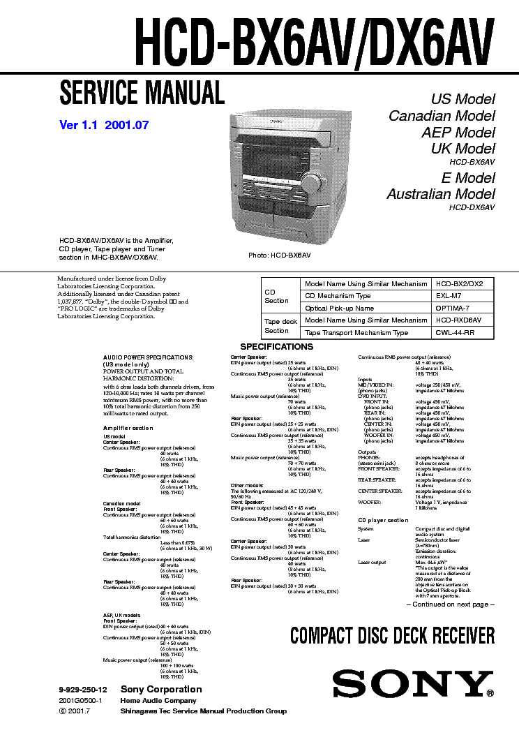 SONY DAS-702ES SM Service Manual free download, schematics