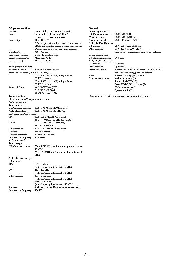 SONY HCD-D690 XB6 XB600 Service Manual download