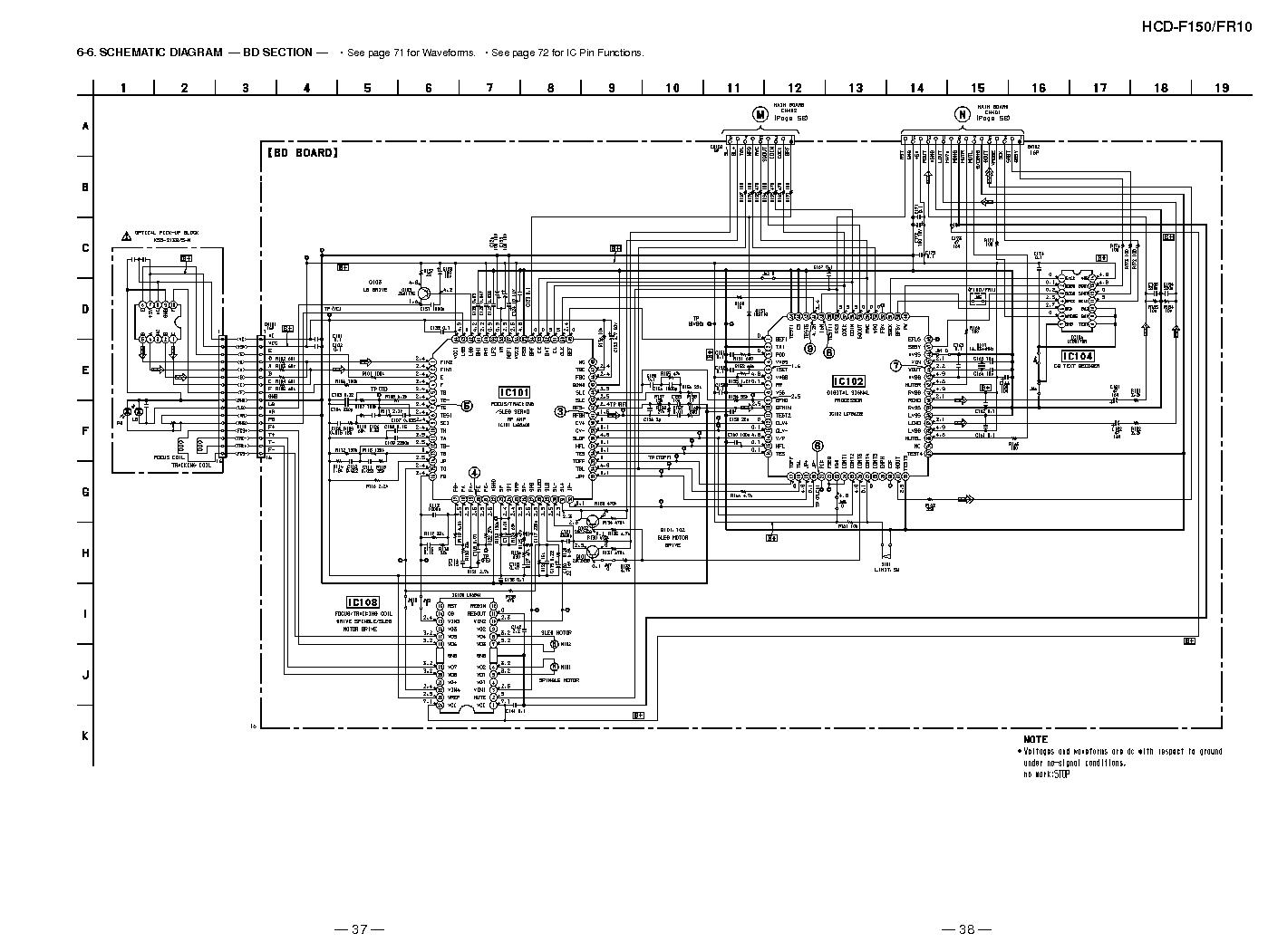 SONY HCD-F150 FR10 SCH Service Manual download, schematics