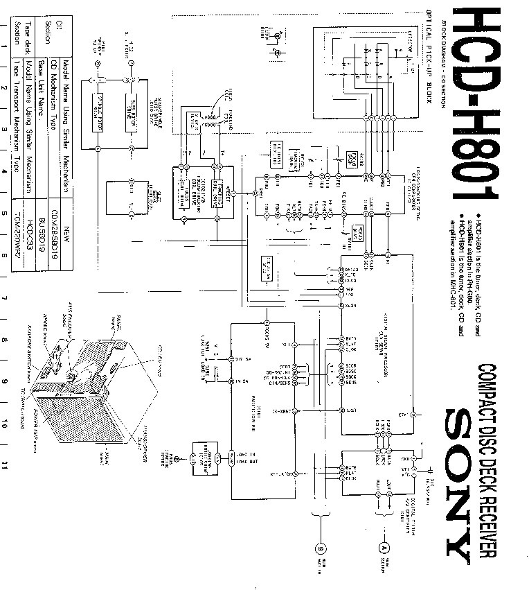 SONY CFD-600L SM Service Manual free download, schematics