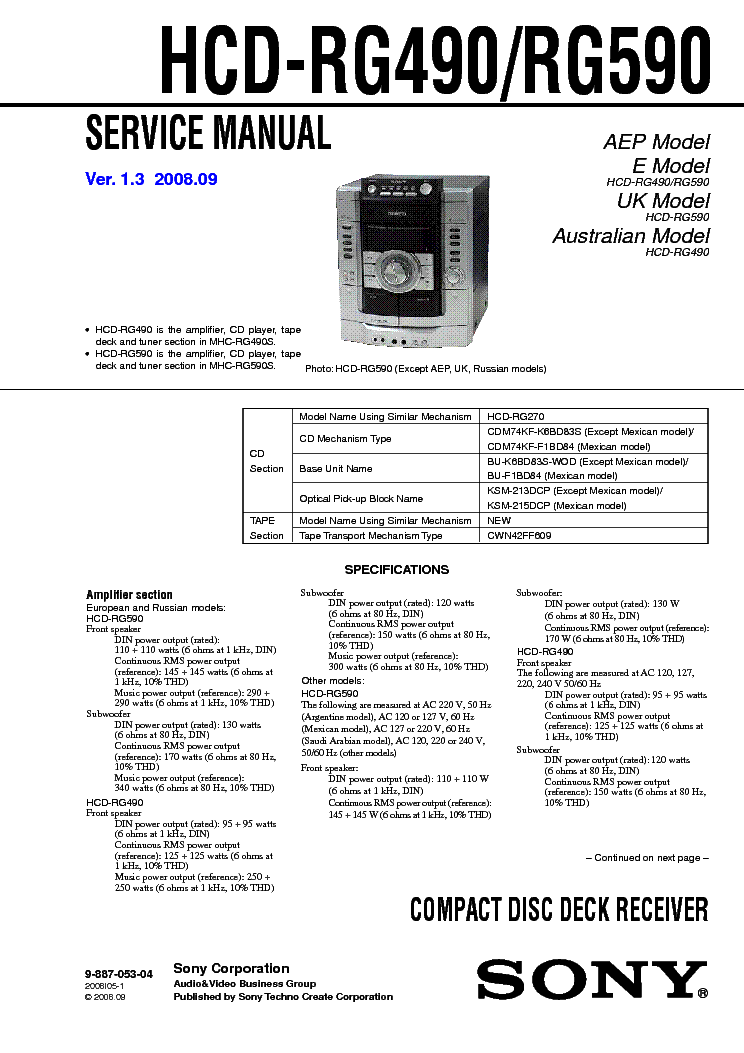 SONY STR-KM3500 SM Service Manual free download