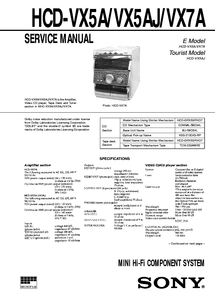 SONY ST-S261 SM Service Manual free download, schematics