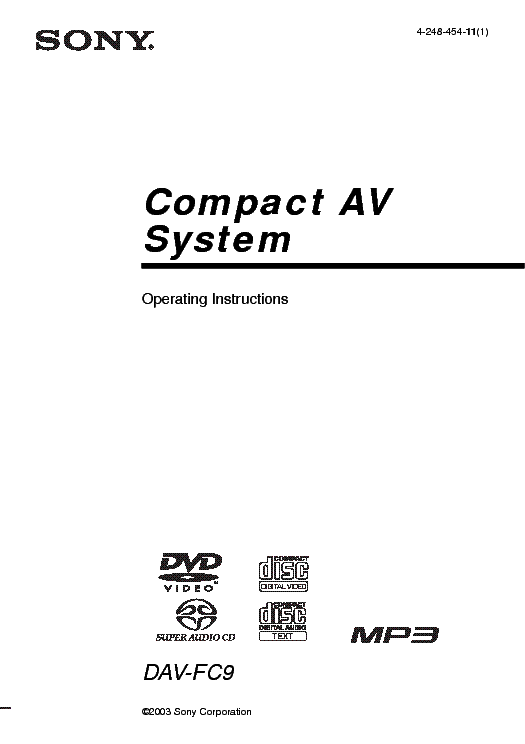 SONY HCD-RG190 RG290 SM Service Manual free download