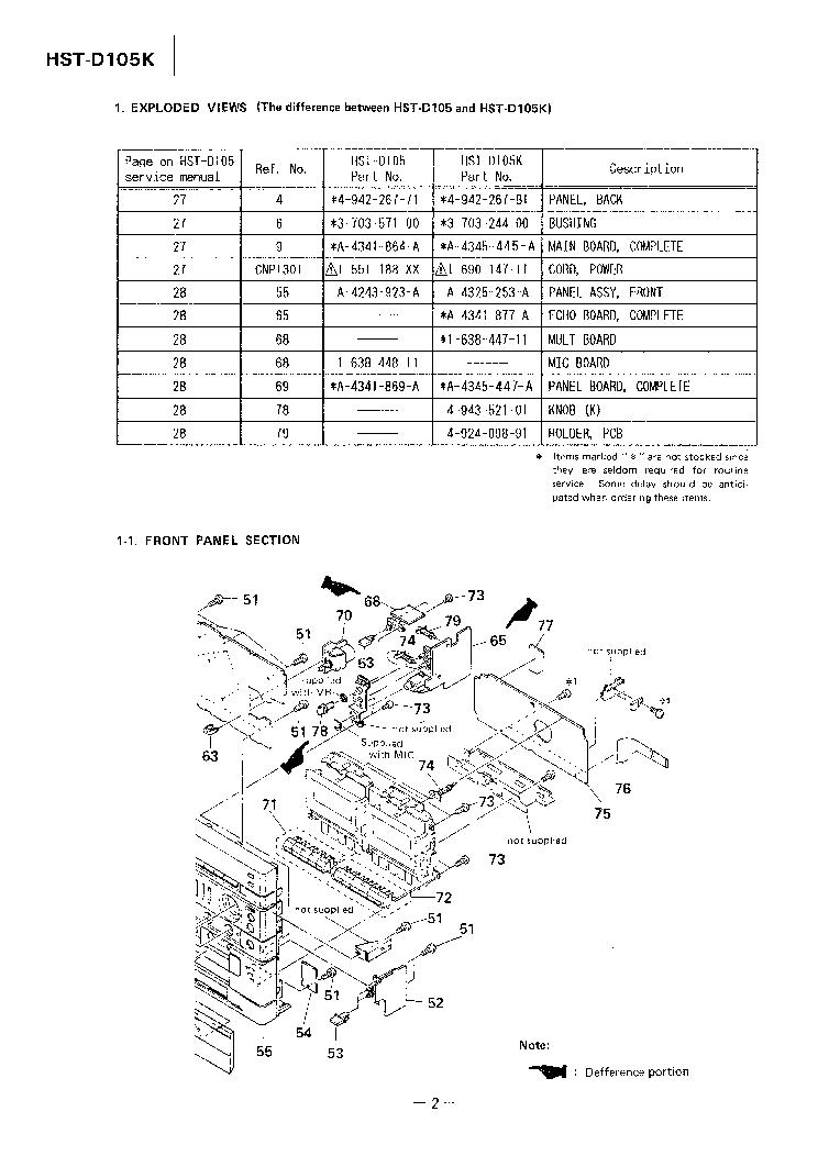 SONY HST-D105K LBT-D105K SM Service Manual download