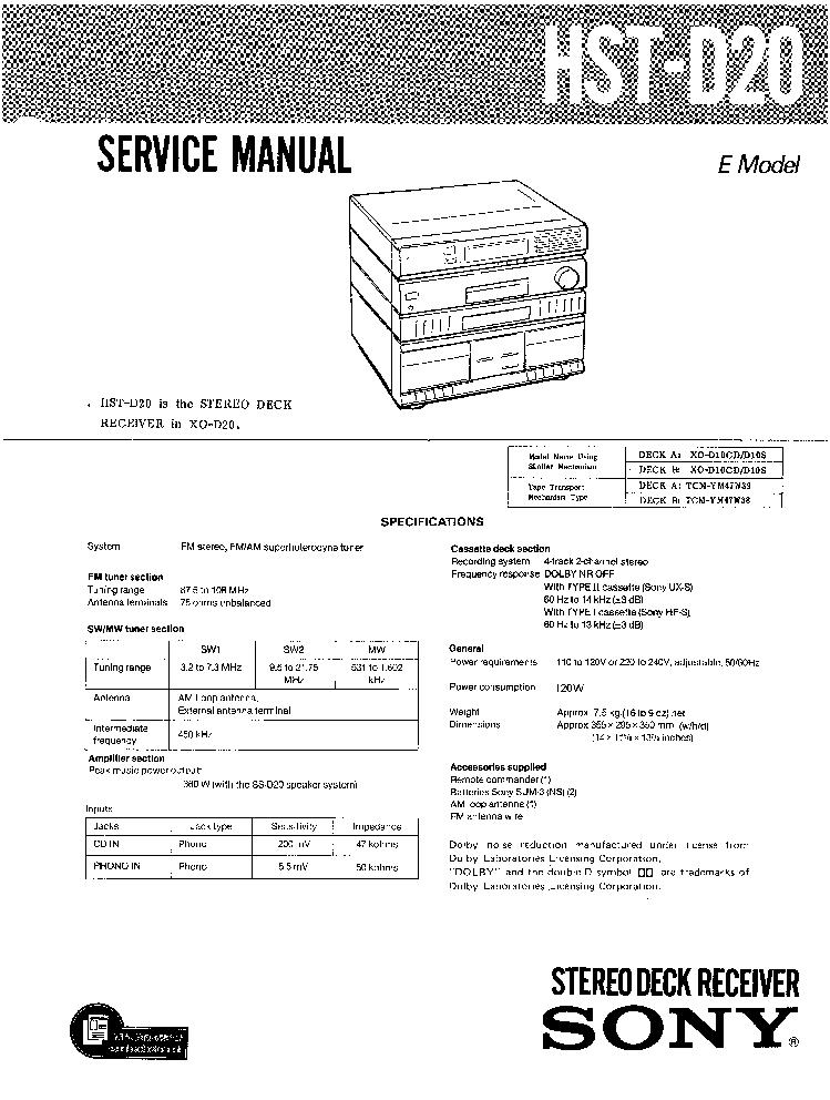 SONY HCD-DX155 DX255 DAV-DX155 DX255-5-V.1.2-SM Service