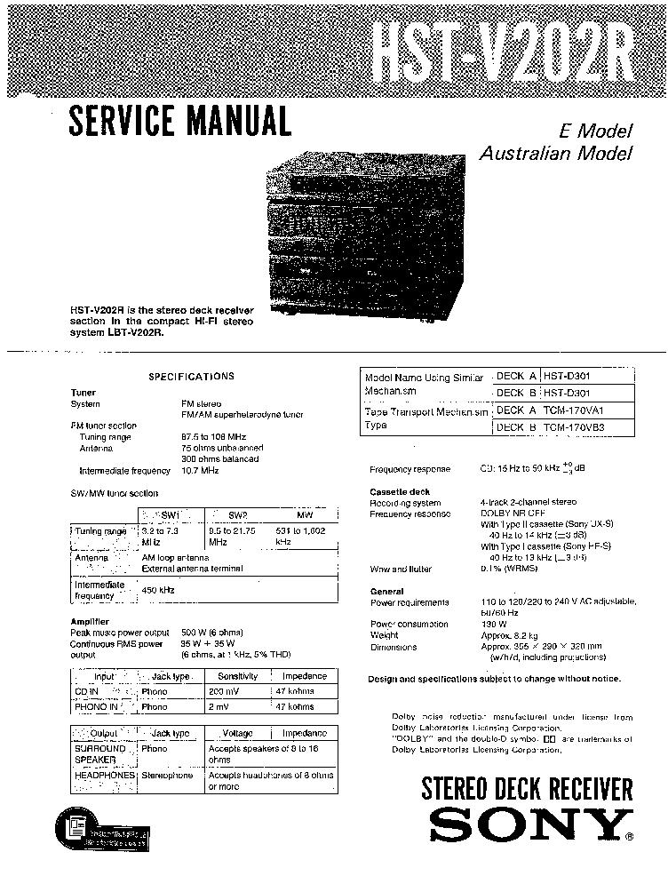SONY XM-2200GTX SM Service Manual free download