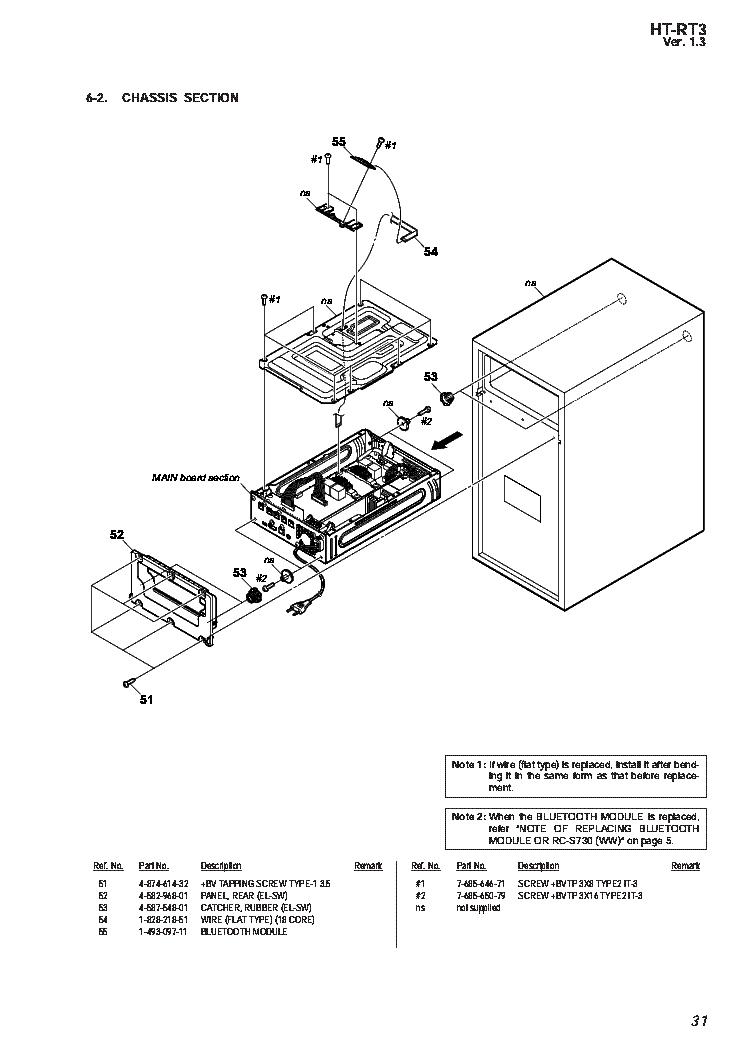 SONY HT-RT3 SCHEMATIC Service Manual download, schematics