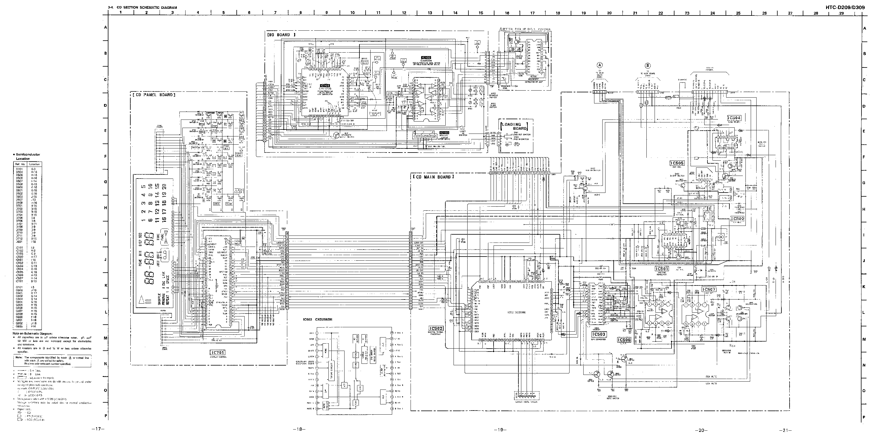 SONY HTC-D209 D309 SCH Service Manual download, schematics