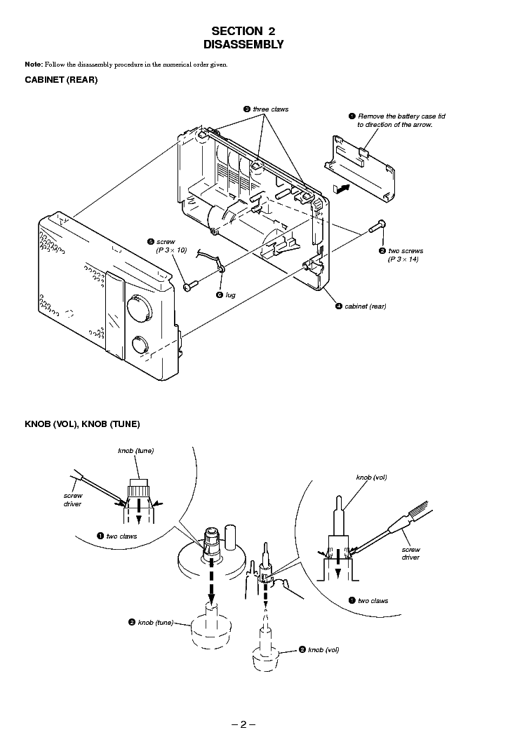 SONY ICF-18 SM Service Manual download, schematics, eeprom